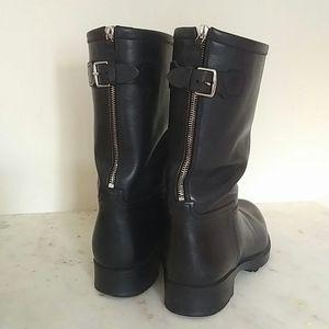 HERMES - Noir Biker Boots
